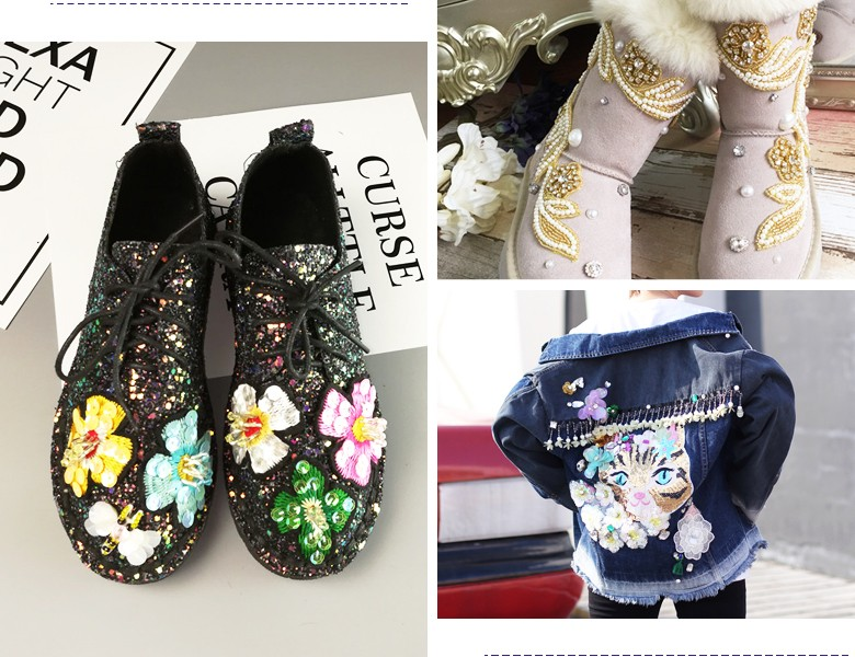 beaded patches for shoes