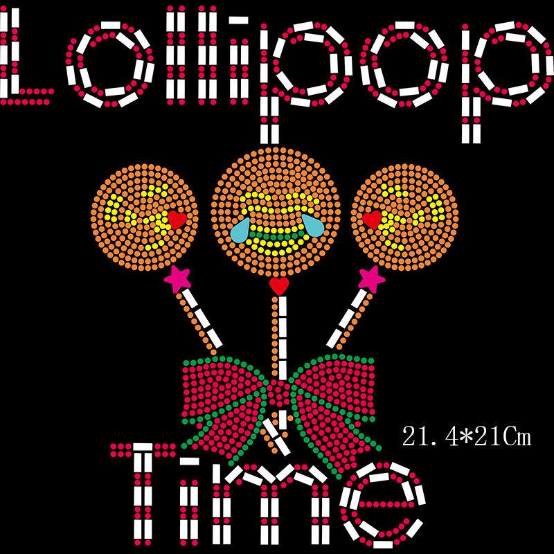 Custom hotfix motif designs emoji iron on bling rhinestones heat transfer