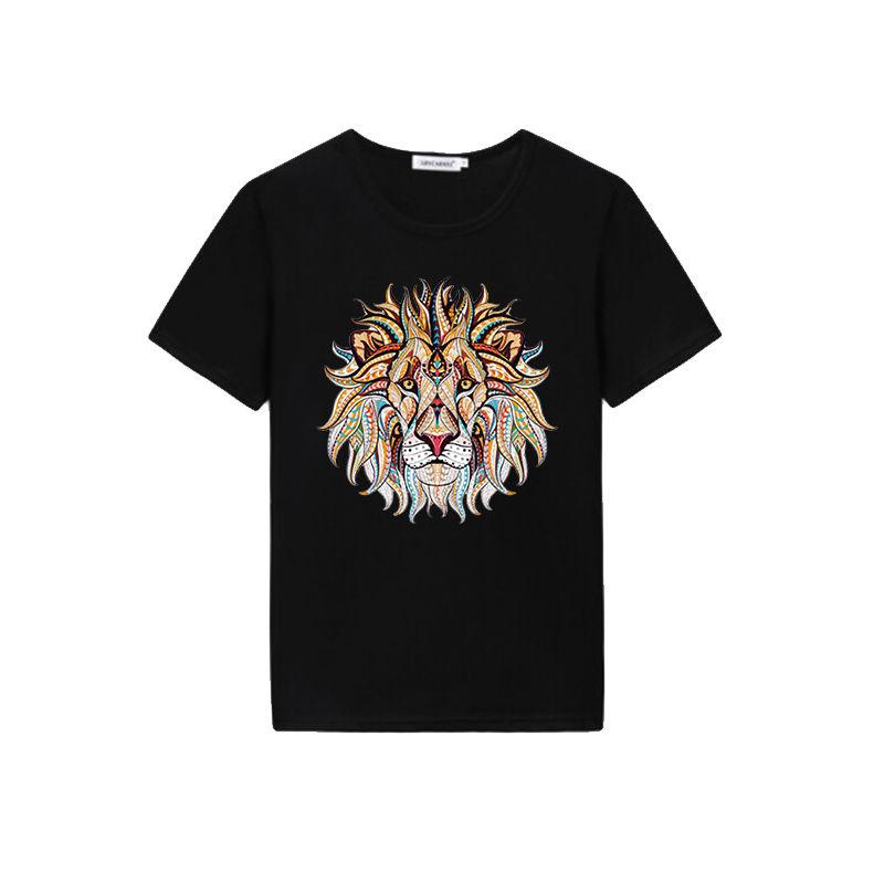Wholesale custom lion design heat transfer sublimation men's t shirts