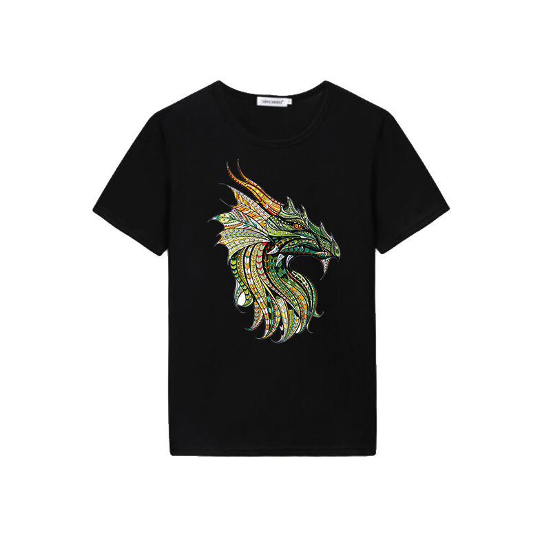 China supplier wholesale custom men's t shirt printing dragon design 100% cotton