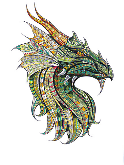 dragon design printing