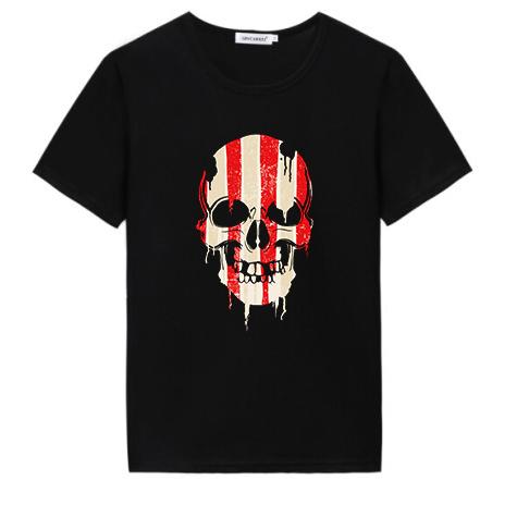 skull printing t-shirt
