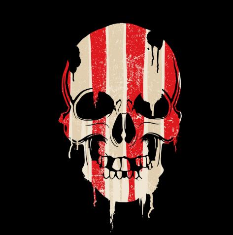 skull printing sticker
