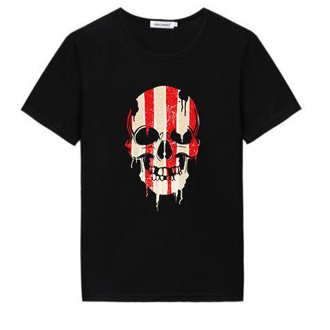 Custom skulls printing heat transfer stickers design for t shirt