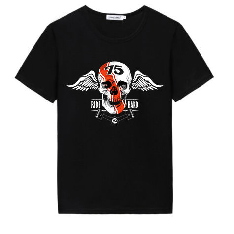 Cheap custom t shirt manufacturer design anime skull heat transfer printing