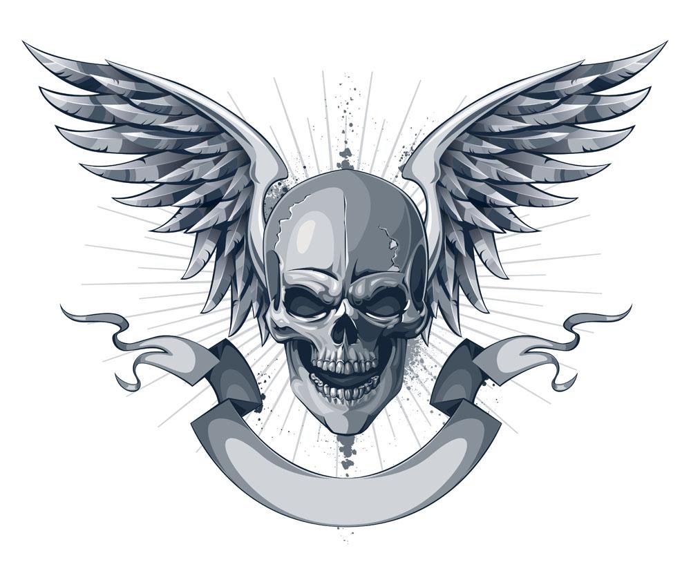 new design skull print