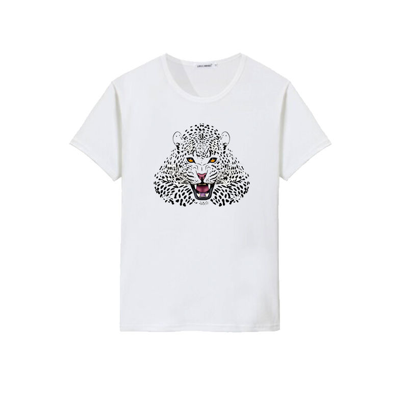 Custom sublimation leopard design t shirt printing with your own design