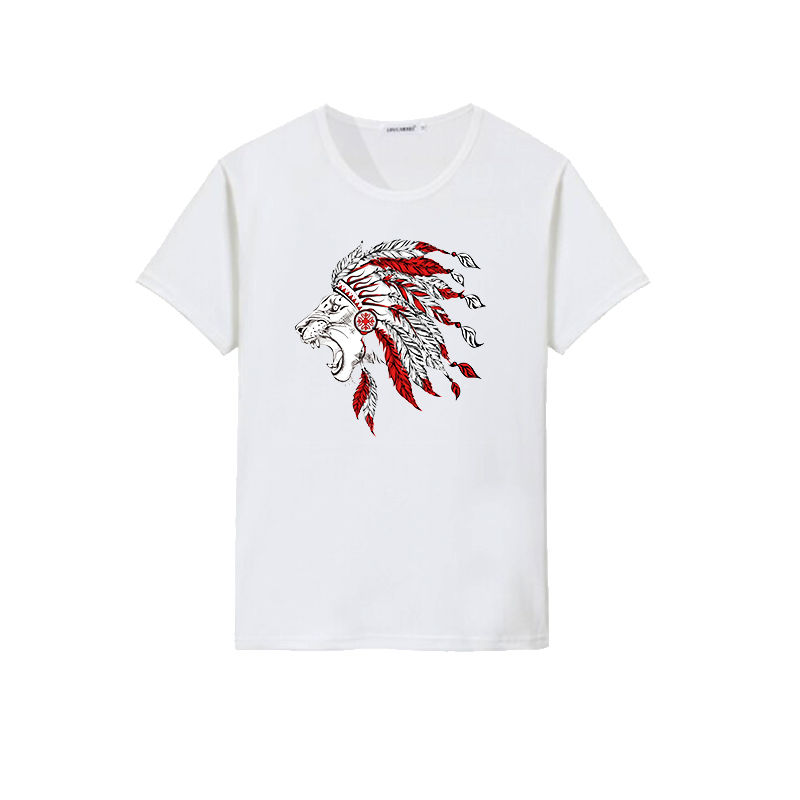 Native American style lion design t shirts custom sublimation printing