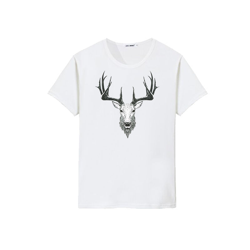 Professional customized deer design heat transfer printing sublimation men t-shirt