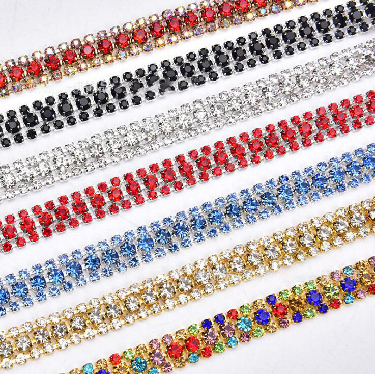 rhinestone ribbon trim