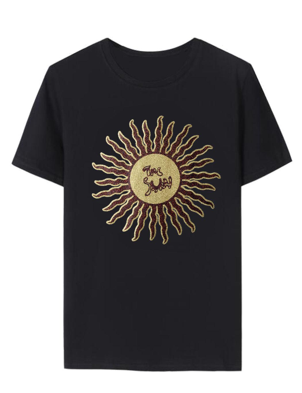 Personalized t shirt design custom sparkely glitter vinyl print t shirt Tee men&women