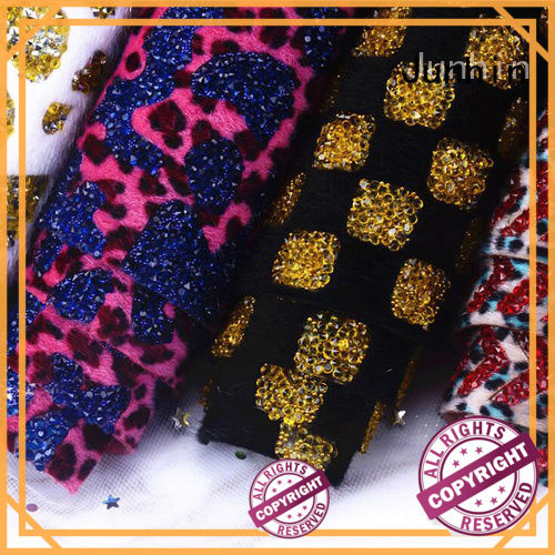 Junhin iron on rhinestone sheets supplier for bags