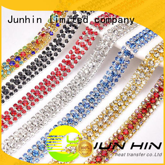 Junhin customized rhinestone sticker sheets manufacturer for textile