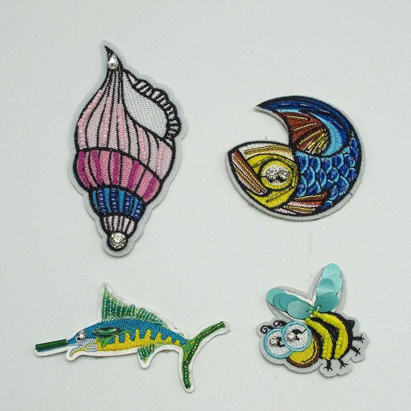 Custom handmade beaded rhinestones cross design patches sew on badge applique for clothes