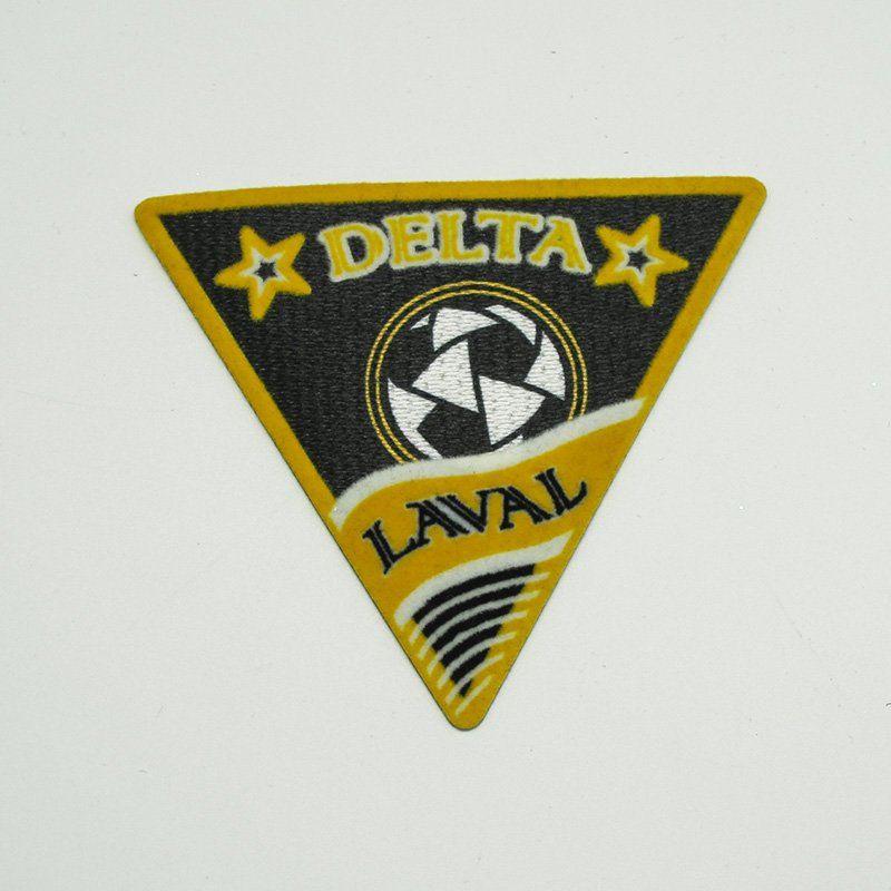 Custom iron on badges design flock heat transfer sticker for clothing