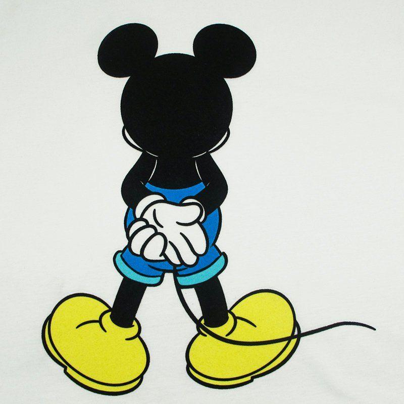 Custom sticker cartoon mickey pattern design glitter heat transfer for garment