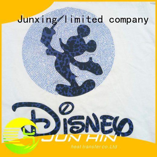 mickey laser rhinestones transfer Junhin iron on transfers
