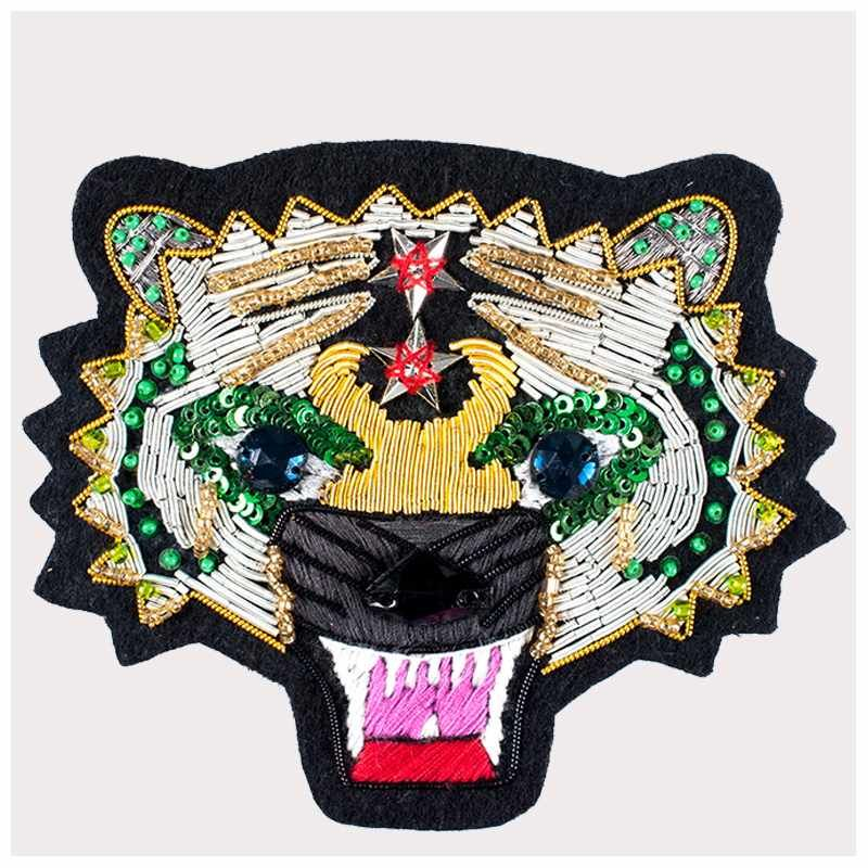 Custom design diy pattern silk embroidered patch for jacket