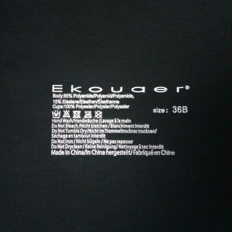 Custom clothes label heat transfer printing washing care for garments