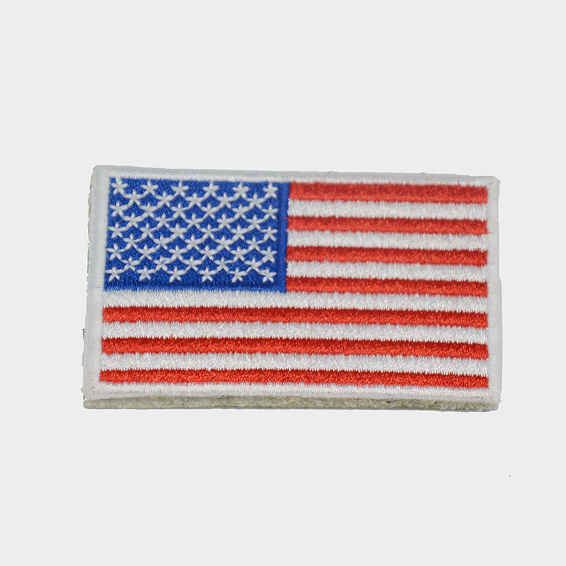 wholesale blue star red striped flag embroidery patch design