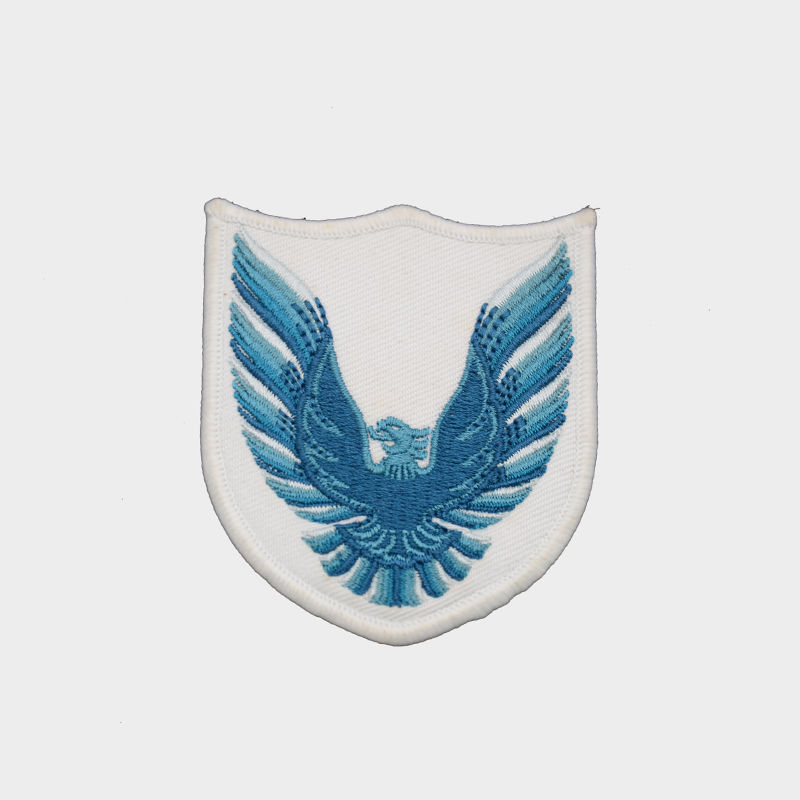 Custom eagle wing badge embroidery patch for t-shirt designs wholesale