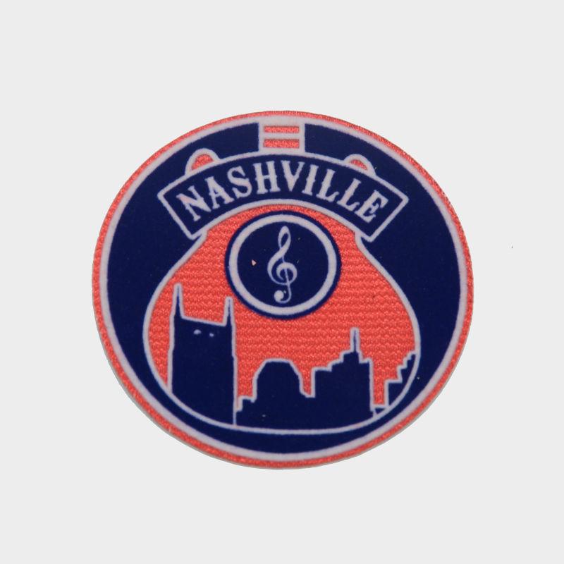 wholesale custom logo badge flock heat transfer label printing for t-shirt design