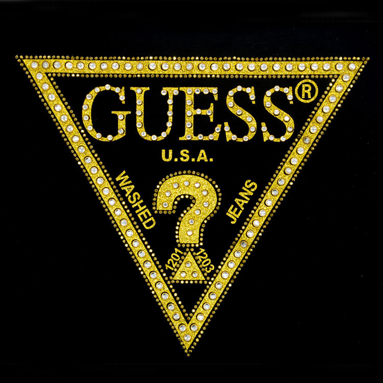 Custom letter question mark design t-shirt glitter textile rhinestone heat transfers