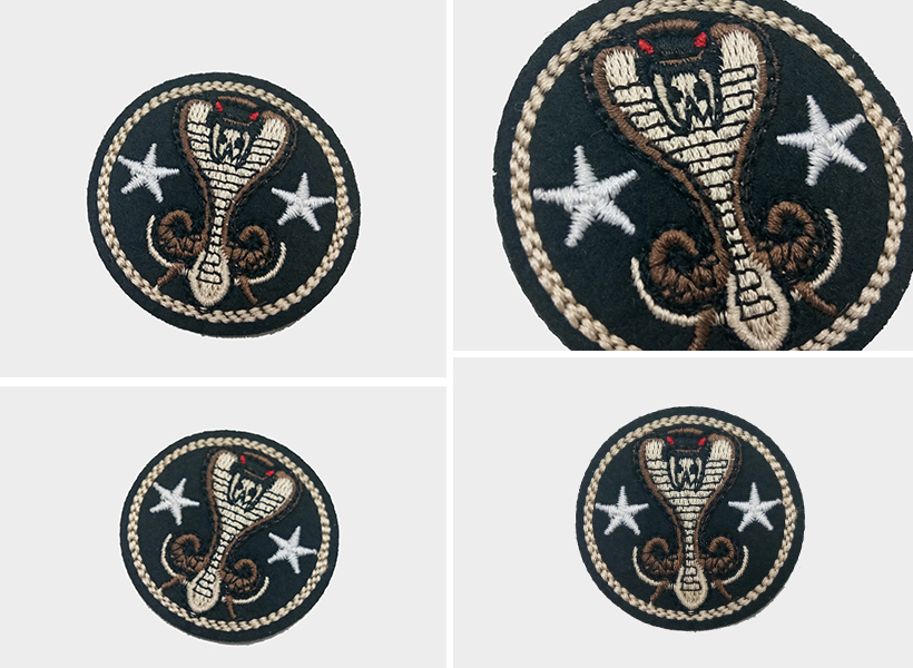 custom round patches