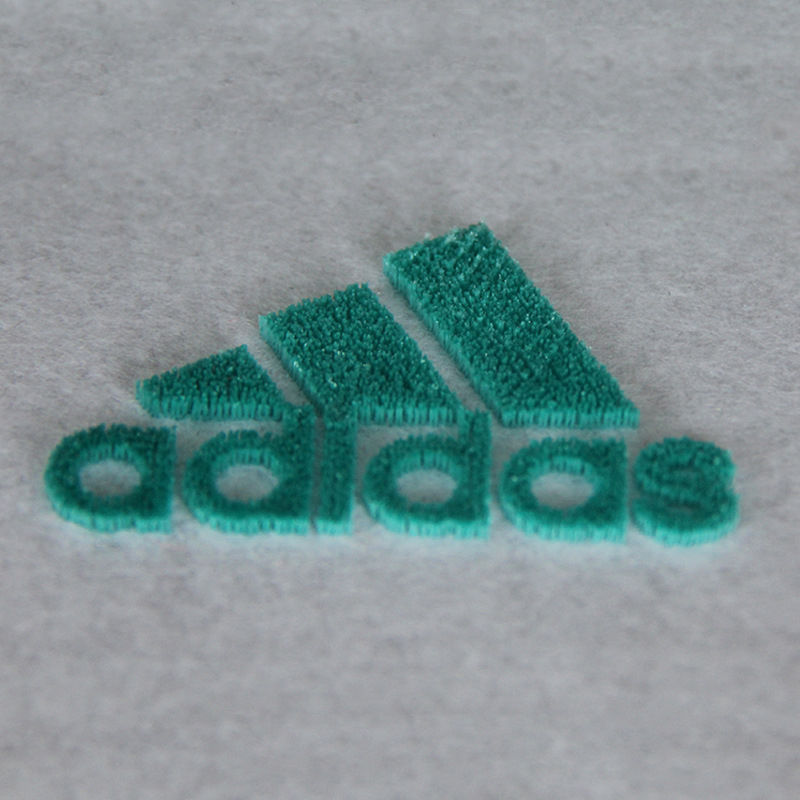 Custom brand name logo 3D sport garment label pattern iron on badge toothbrush embroidery patch