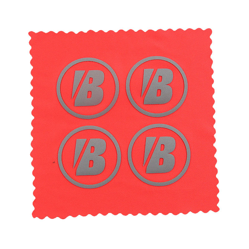 Custom badge letter design reflective heat transfer labels for clothing