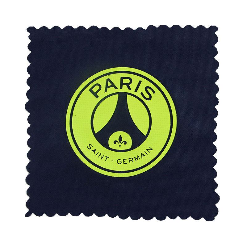 Custom round logo silicone heat transfer 3d label sticker for t shirt