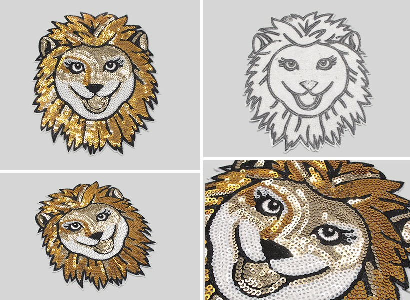 sequins embroidery patch for clothes
