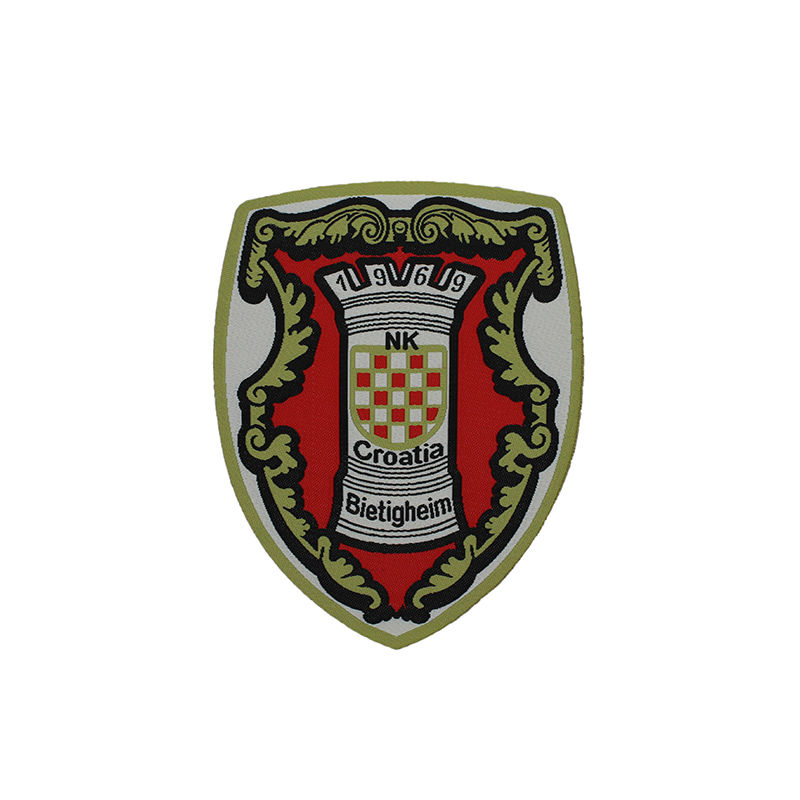 Custom shield badges letter logo pattern sew on embroidery machine patch for clothing