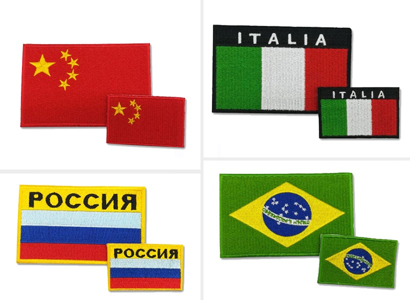 national flag badges