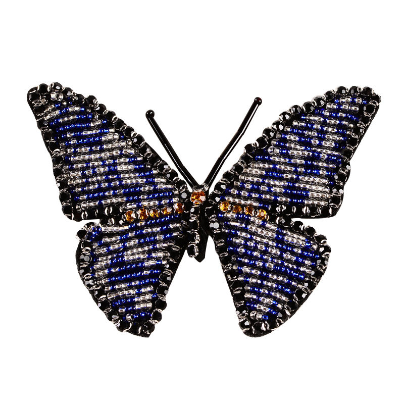 Custom patches handwork beaded rhinestone butterfly designs appliques for clothing