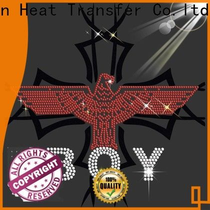 unique custom rhinestone iron on transfers from China for promotion