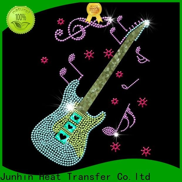 Junhin fashion bling heat transfers for business for promotion