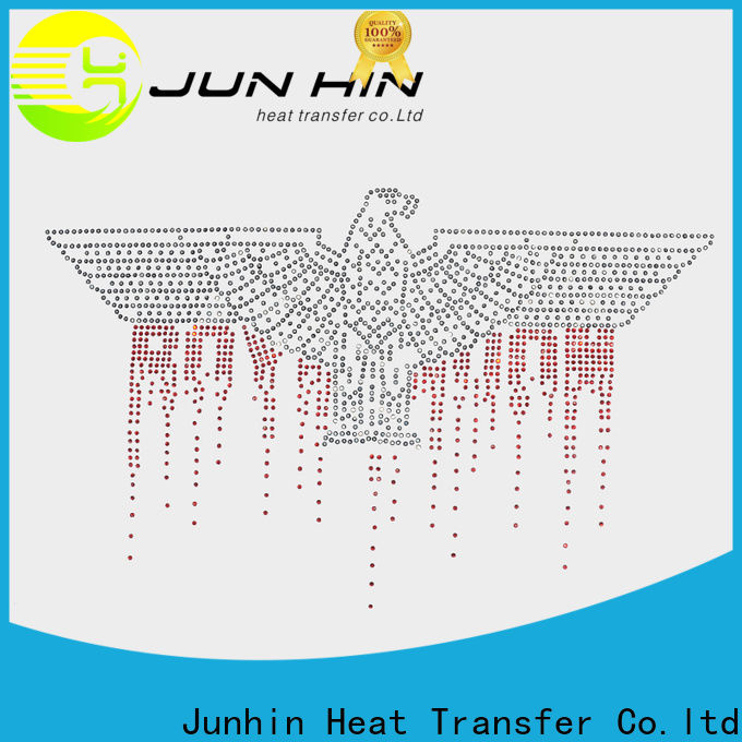 Junhin rhinestone designs best manufacturer for apparel