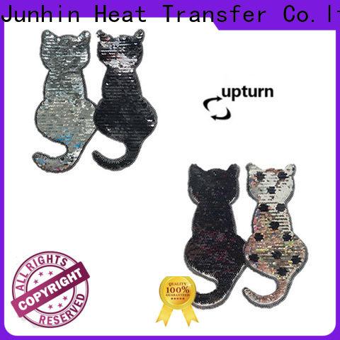 Junhin gold rhinestone applique personalized for textile