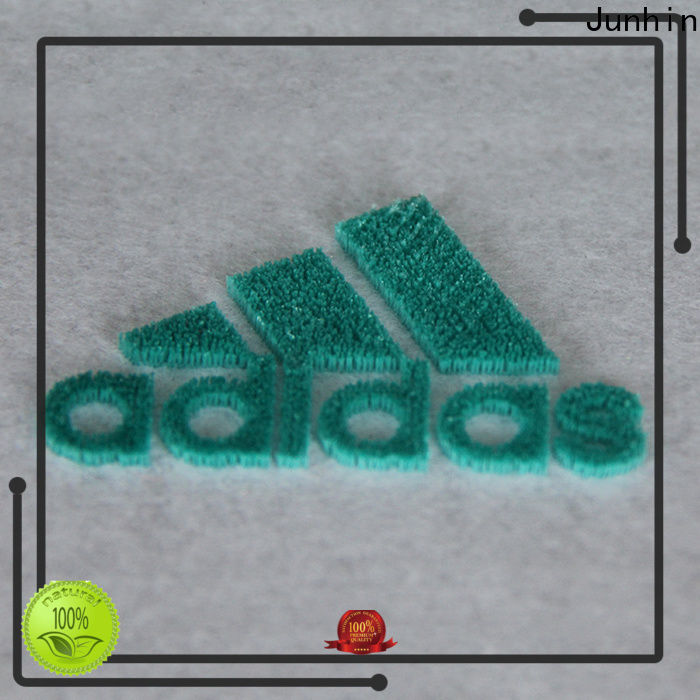 Junhin new embroidered badges supplier for clothing