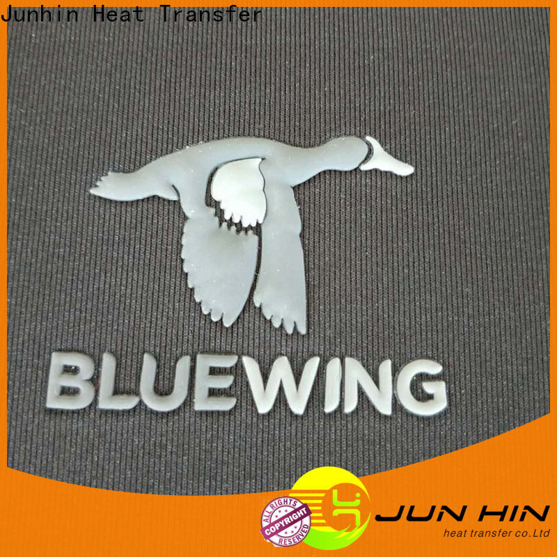 Junhin customized raised rubber heat transfer factory direct supply for textile