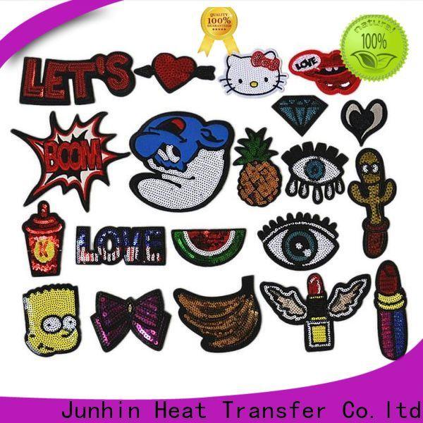 Junhin unique gold applique company for garments