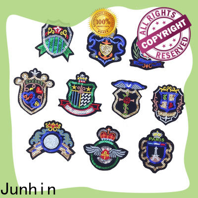 Junhin modern applique patches from China for gifts