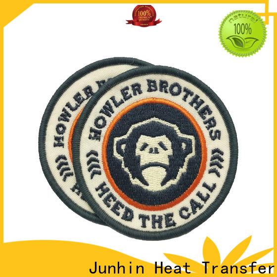 Junhin promotional custom heat press patches supply bulk production