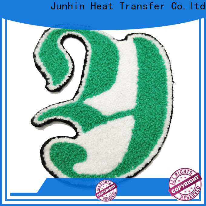 Junhin fashion cheap embroidered patches suppliers for apparel