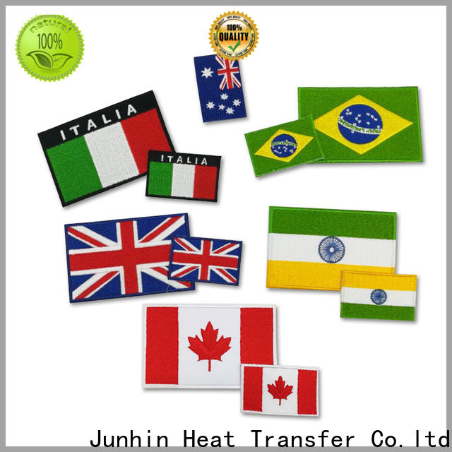 Junhin embroidered number patches personalized for sale