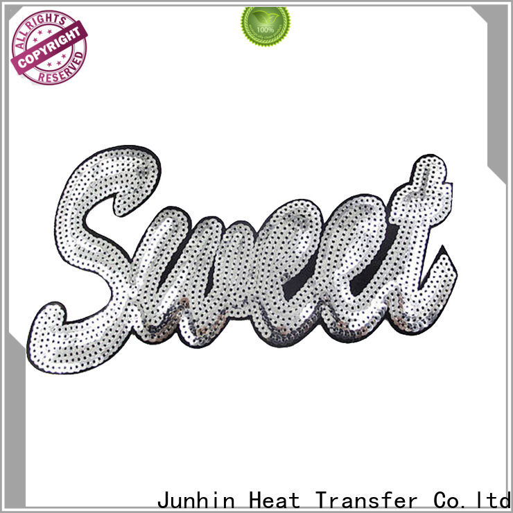 Junhin hot-sale sew on patches inquire now for garments