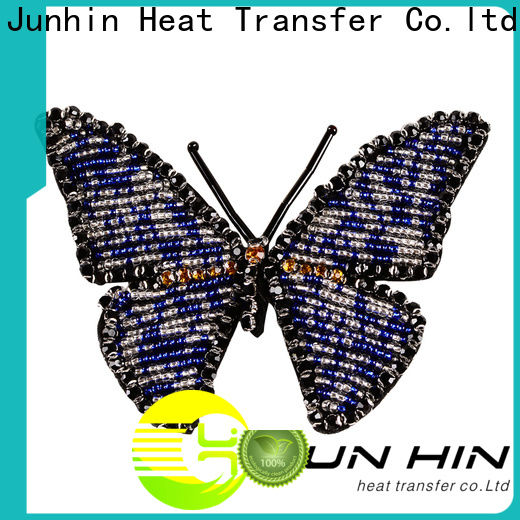 Junhin hot selling beaded appliques for wedding dresses personalized for apparel