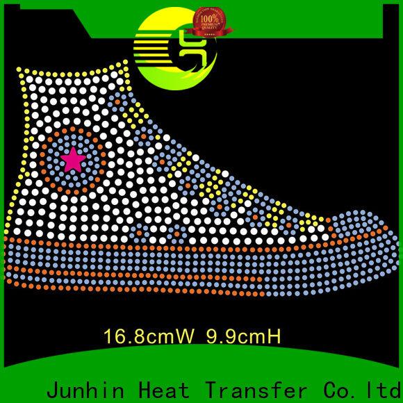 Junhin rhinestone transfer sheets design for apparel