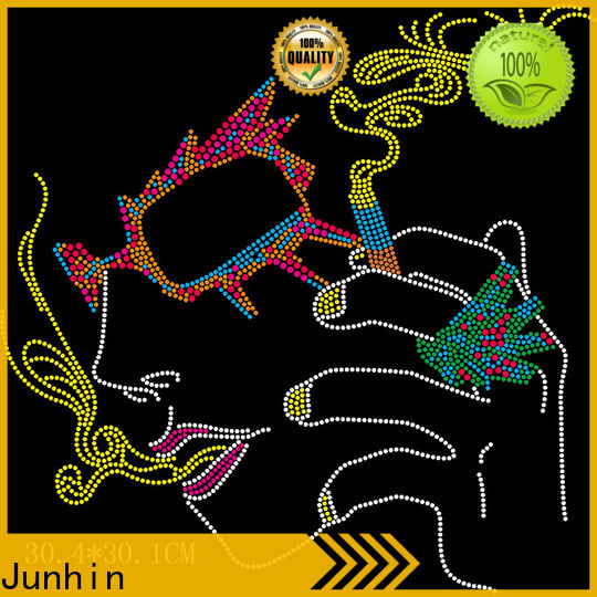 Junhin hot-sale bling transfers for business for apparel